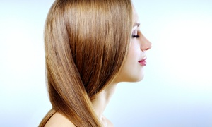 Jules Salon: Haircut Package with Deep-Conditioning Treatment or Partial Highlights at Jules Salon (Up to 65% Off)