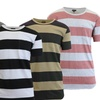 Men's Washed Combed Cotton Striped Tees