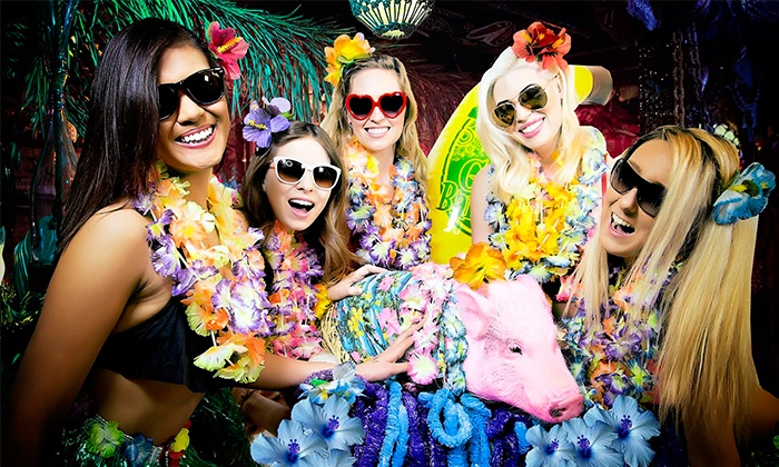Everyone Gets Lei's - MB Financial Park: Everyone Gets Lei's Hawaiian-Themed Pub Crawl at MB Financial Park on May 24 (Up to 40% Off)