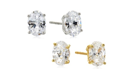 2.00 CTTW Genuine White Topaz Stud Earrings (1- or 2-Pairs)