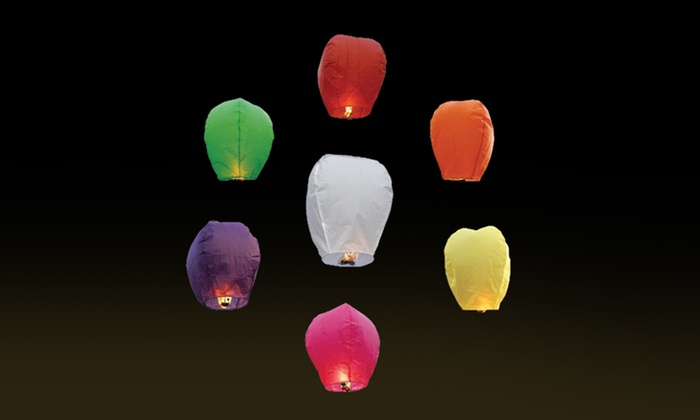 10-Pack of Chinese Sky Fly Fire Lanterns: 10-Pack of Chinese Sky Fly Fire Lanterns. Free Returns.