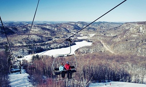 Mont Ste-Marie: One All-Day Adult Ski Lift Pass with Optional Gear Rental at Mont Sainte-Marie (Up to 37% Off)