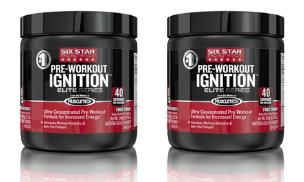2-Pack of Six Star Pro Nutrition Elite Series Pre-Workout Ignition in Fruit Punch; 40 Servings Each