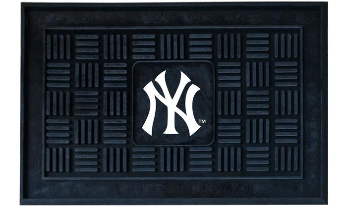 New York Yankees Vinyl Door Mat: New York Yankees Vinyl Door Mat