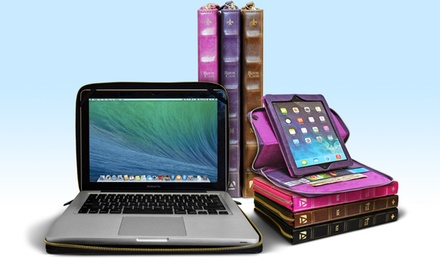 Aduro BookCase Folio and Stand Case for iPads or MacBooks from $14.99–$19.99