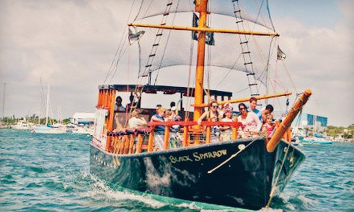 Black Sparrow Pirate Adventures - Riviera Beach: Pirate Tour for Two or for Four with Pirate Packs from Black Sparrow Pirate Adventures (Up to 40% Off)