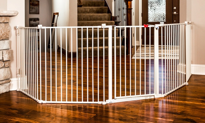 Superwide Five Panel Baby Gate Groupon