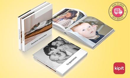 1 o 2 álbumes de fotos tapa blanda o dura en distintos tamaños con Kipit ( hasta 64% de descuento)
