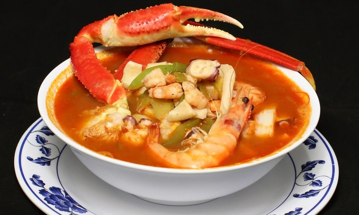 El Oasis Seafood - El Rancho: $12 for $20 Worth of Seafood or Seafood Meal for Two at El Oasis Seafood
