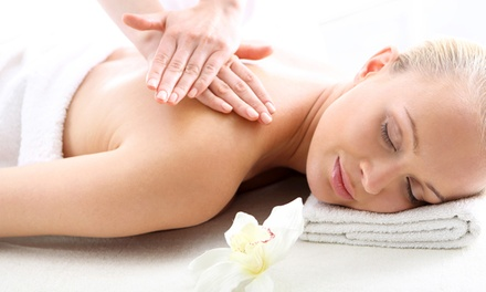 $97 for Aromatherapy Massage and Pedicure with Foot Bath at the Woodhouse Day Spa ($160 Value)