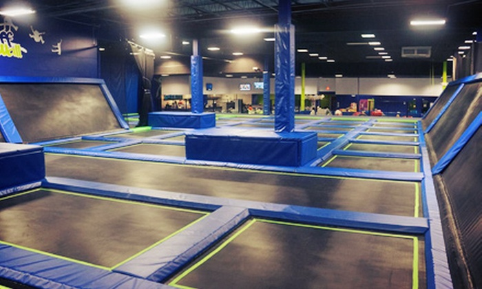 Off The Wall Trampoline Fun Center - Coconut Creek: Jump Time or Fun-Center Package for Two at Off The Wall Trampoline Fun Center (Up to 62% Off)