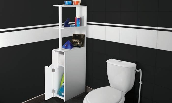 meuble de rangement toilettes ou salle de bains groupon