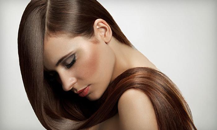 Latter Rain Salon & Spa - Nixa: Haircut and KeraTriplex Treatment with Optional All-Over Color at Latter Rain Salon & Spa (Up to 54% Off)