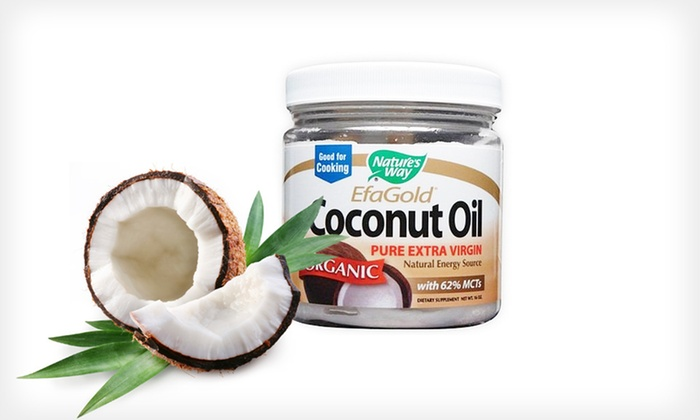 Nature's Way Extra-Virgin Coconut Oil: $29.99 for Three 16 Oz. Jars of Nature's Way EfaGold Pure Extra-Virgin Coconut Oil ($59.99 List Price). Free Shipping.