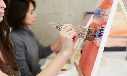 BYOB Painting Class for One, Two, or Four at Olive's Mud Puddle (Up to 53% Off)