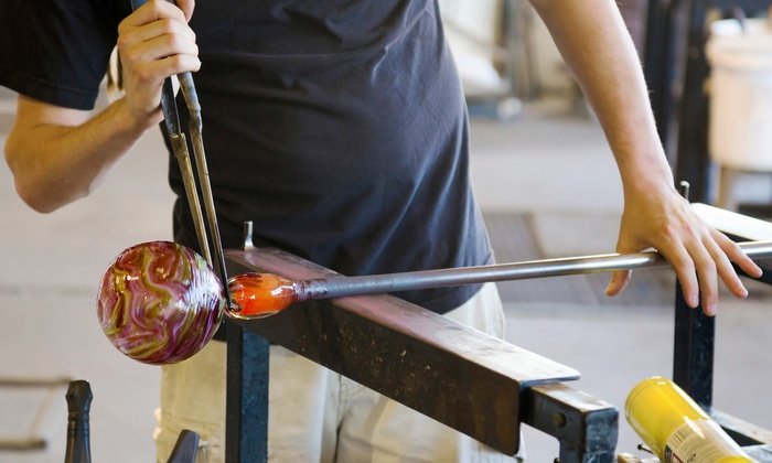 Glassblowing Workshop - Wakefield-Peacedale: Sculpt a Colorful Paperweight with a Glass Artist