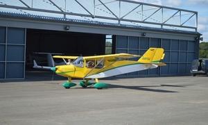 SkyFly Cerfontaine: Vol en ULM au-dessus des Lacs de l'Eau d'Heure, optioninitiation au pilotage dès 49,99€ àSkyFly Cerfontaine