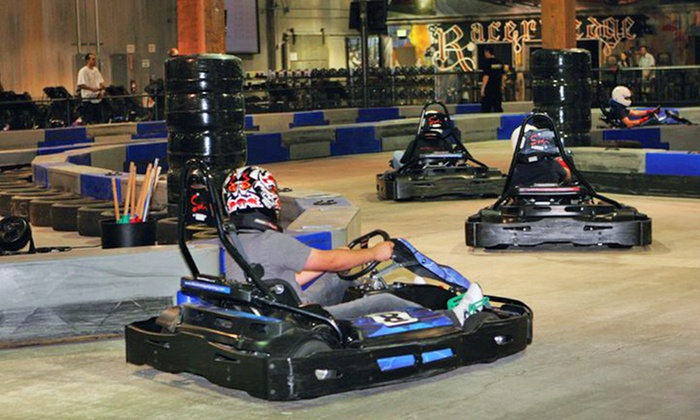 Racer's Edge Indoor Karting - Burbank: $46 for Four 16-Lap Go-Kart Races for Adults of Four 11-Lap Go-Kart Races for Juniors at Racer's Edge Indoor Karting ($92 Value)