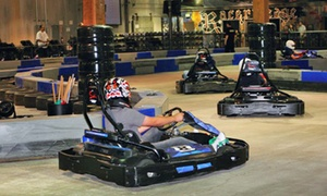 Racer's Edge Indoor Karting: $46 for Four 16-Lap Go-Kart Races for Adults of Four 11-Lap Go-Kart Races for Juniors at Racer's Edge Indoor Karting ($92 Value)