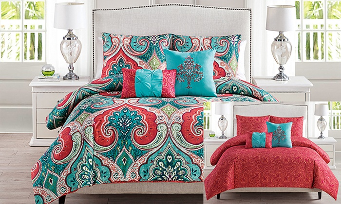 king duvet comforter moroccan bedroom decor size cover red covers katalog medallion on in sets and teal bedli bed s queen frame style bedding set