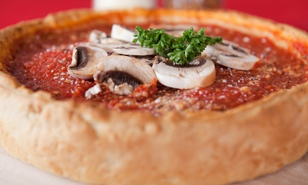 One Large Two-Topping Chicago-Style Pizza and Garlic Twists at Pasquale's West Coast Pizzeria (Up to 43% Off)
