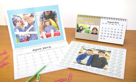 Custom Photo Desk or Wall Calendar at York Photo (50% Off)