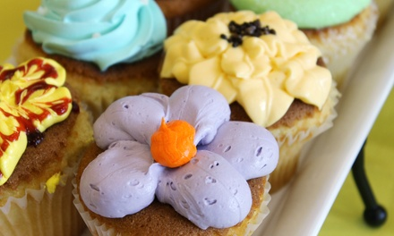 One or Two Dozen Cupcakes at           Cakes by Happy Eatery (Up to 51% Off)