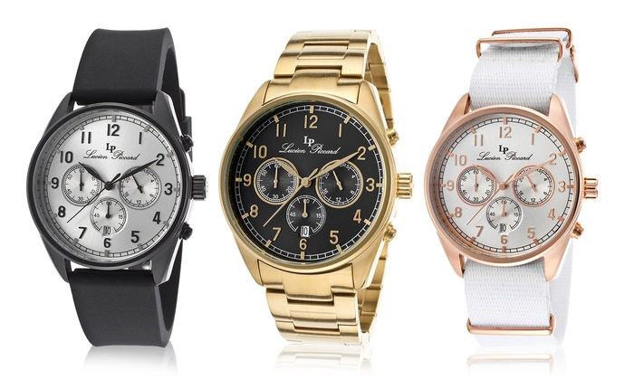 lucien piccard men s watch groupon goods lucien piccard men s moderna chronograph watch lucien piccard moderna collection men s chronograph watch