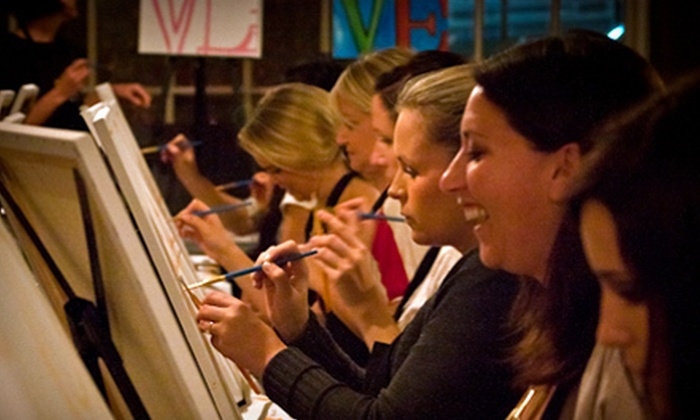 Art Uncorked - Downtown: Three-Hour Painting Class for One or Two at Art Uncorked (Up to 56% Off)