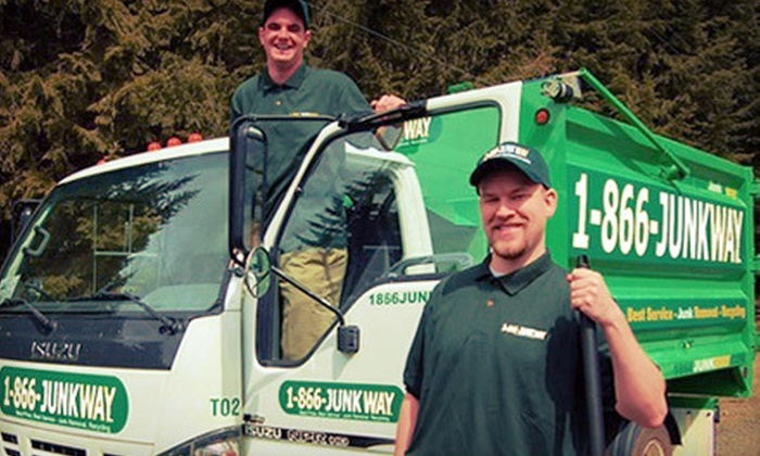 1-866-JUNKWAY - Portland: $65 for Removal of 2 Cubic Yards of Junk from 1-866-JUNKWAY (Up to $135 Value)