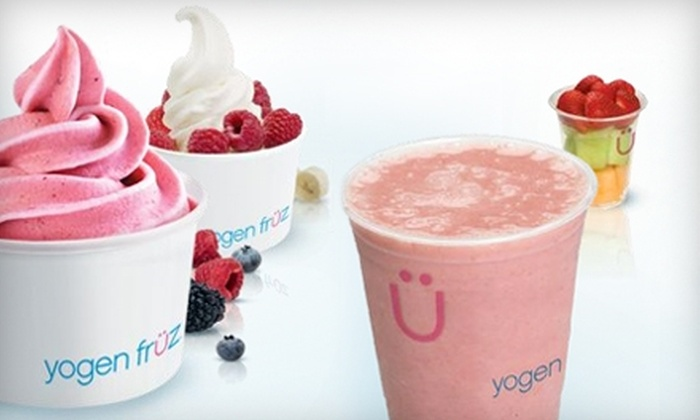 Yogen Früz - Multiple Locations: $3 for $6 Worth of Frozen Yogurt, Smoothies, and Sweets at Yogen Früz. Choose from Three Locations.