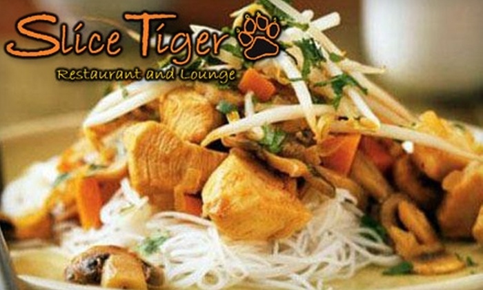 Slice Tiger Restaurant and Lounge - Mill Lake: $15 for $30 Worth of Asian Fusion and Drinks at Slice Tiger Restaurant