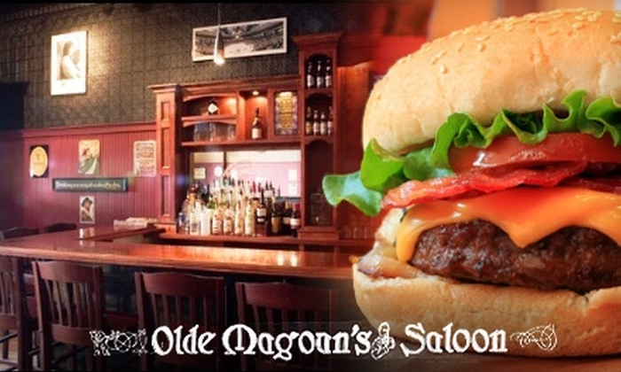 Olde Magoun's Saloon - Magoun Square: $10 for $20 Worth of Pub Fare and Brews at Olde Magoun's Saloon in Somerville