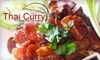 Thai Curry - Ashton Heights: $20 for $40 Worth of Flavorful Fare at Thai Curry