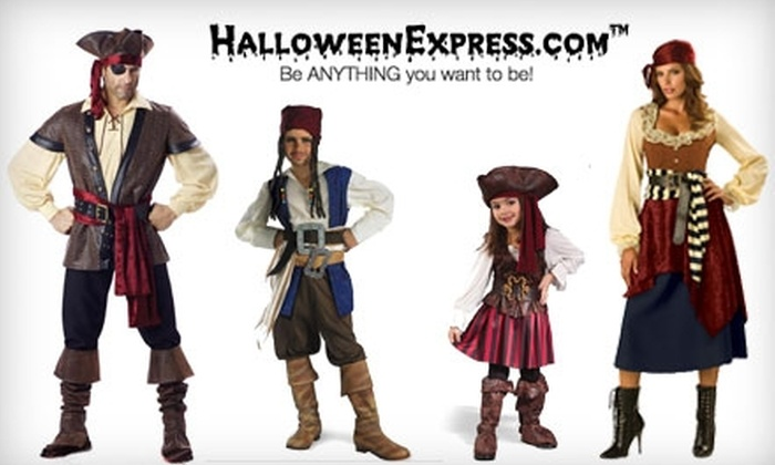 Halloween Express - Multiple Locations: $10 for $20 Worth of Costumes, Decorations, and More at Halloween Express. Choose Between Two Locations.