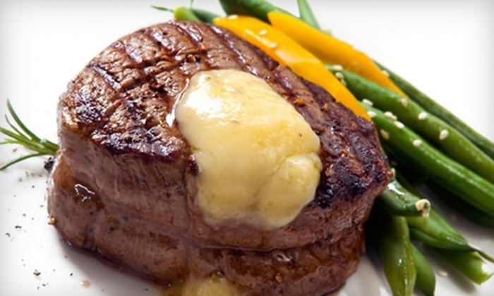 Stone Mill BBQ and Steakhouse - Greenway Business Park: $49 for 8-Ounce Filet Mignon Dinner for Two at Stone Mill BBQ and Steakhouse in Broken Arrow ($101.93 Value)