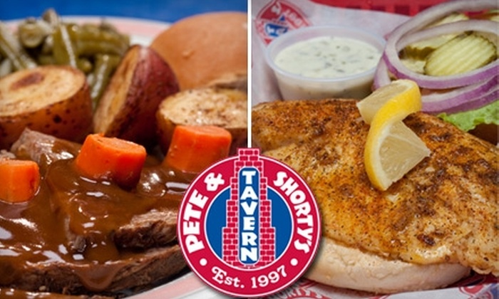 Pete & Shorty's Tavern - Multiple Locations: $7 for $15 Worth of Pub Fare and Drink at Pete & Shorty's Tavern