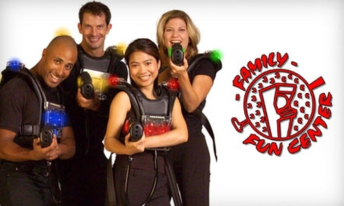 Family Fun Center - Central Omaha: $10 for Five Games of Laser Tag at Family Fun Center