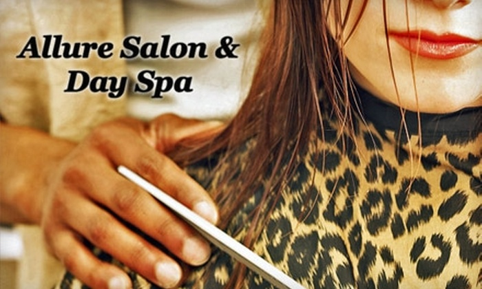 Allure Salon & Day Spa - South Gateway: $35 for $80 Worth of Hair Services and Facial Waxing at Allure Salon & Day Spa