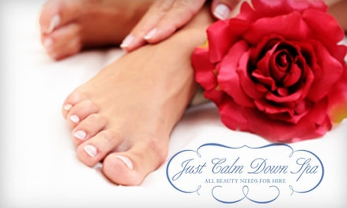 Sweet Shoppe at Just Calm Down Spa - Flatiron District: $45 for Your Choice of One Luxury Mani-Pedi at the Sweet Shoppe at Just Calm Down Spa