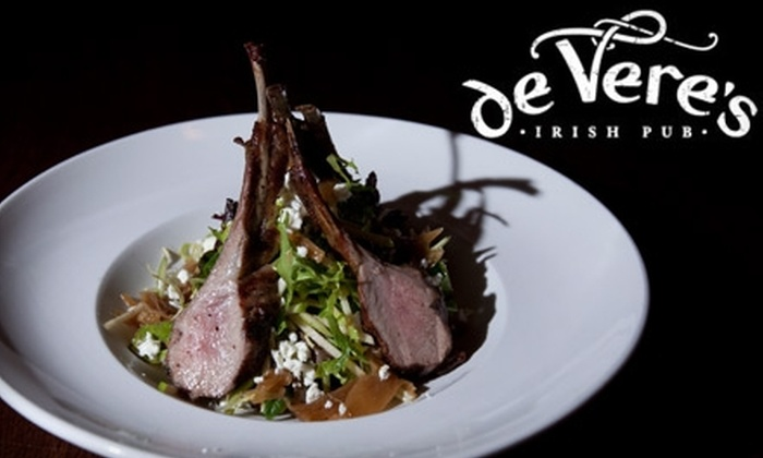 de Vere's Irish Pub - Downtown: $25 for One Membership to de Vere's Irish Pub's Whiskey Society ($50 Value)