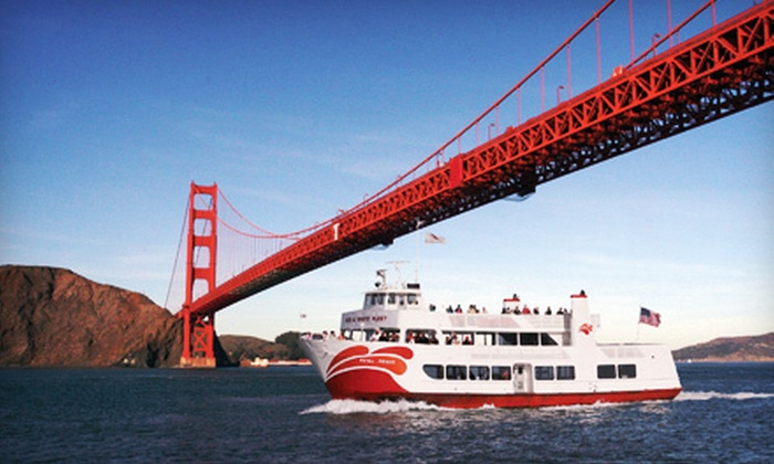 Red and White Fleet - Fisherman's Wharf: $18 for a 90-Minute 75th Anniversary Bridge 2 Bridge Cruise on the Bay from Red and White Fleet (Up to $36 Value)