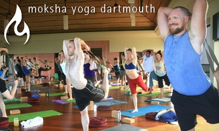 Moksha Yoga - East Dartmouth: $29 for One Month of Unlimited Hot Yoga Classes at Moksha Yoga Dartmouth (Up to $145 Value)