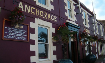 Ayrshire Coast: 1 or 2 Nights For Two With Breakfast and Wine; With Option For Dinner at The Anchorage Hotel