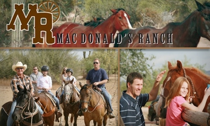 MacDonald's Ranch - North Scottsdale: $34 for a Two-Hour Horseback Trail Ride at MacDonald's Ranch ($74 Value)