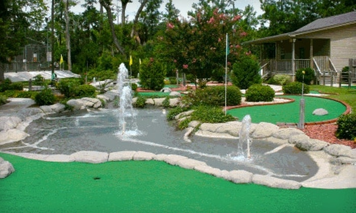 Island Miniature Golf and Games - Whitemarsh Island: $10 for Four Rounds of Mini Golf and Four Batting-Cage Tokens at Island Miniature Golf and Games