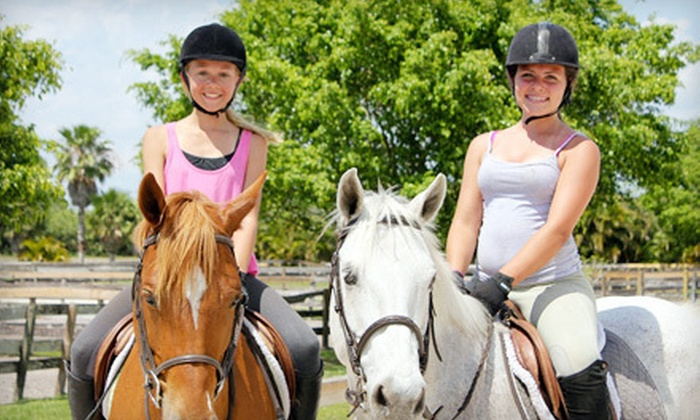 Equestrian Connections - Delray Beach: One or Four Horseback-Riding Lessons or Children's Pony Camp at Equestrian Connections in Delray Beach (Up to 54% Off)