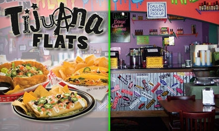 Tijuana Flats Indianapolis - Hearth Stone: $10 for $20 Worth of Fresh Tex-Mex Cuisine at Tijuana Flats in Fishers
