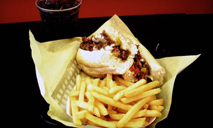 I-80 Cheesesteaks - Fairfield: Cheesesteaks with Fries and Drinks for One or Two at I-80 Cheesesteaks (44% Off)