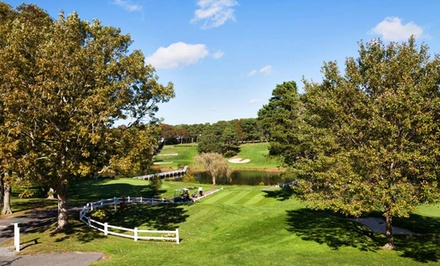 groupon daily deal - Stay with Optional Round of Golf at Blue Rock Resort in Cape Cod, MA. Dates into October.